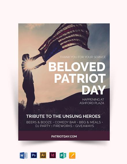 Memorial Day Patriotic Flyer Template