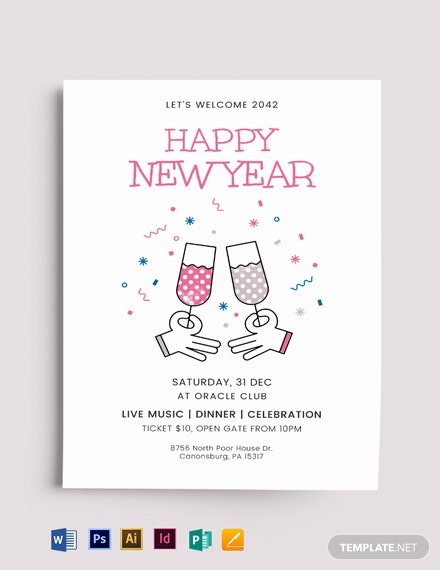 new year flyer  mockup 440