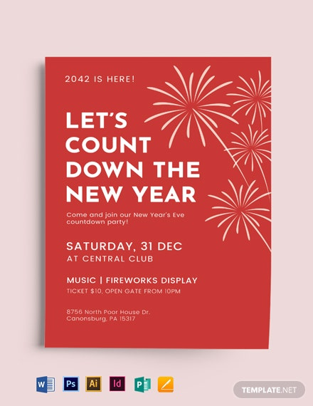 new year party event flyer mockup 440