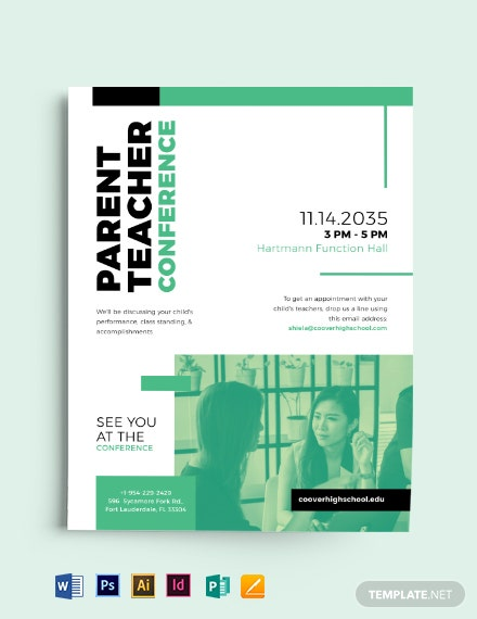 Parent Teacher Conference Flyer Template