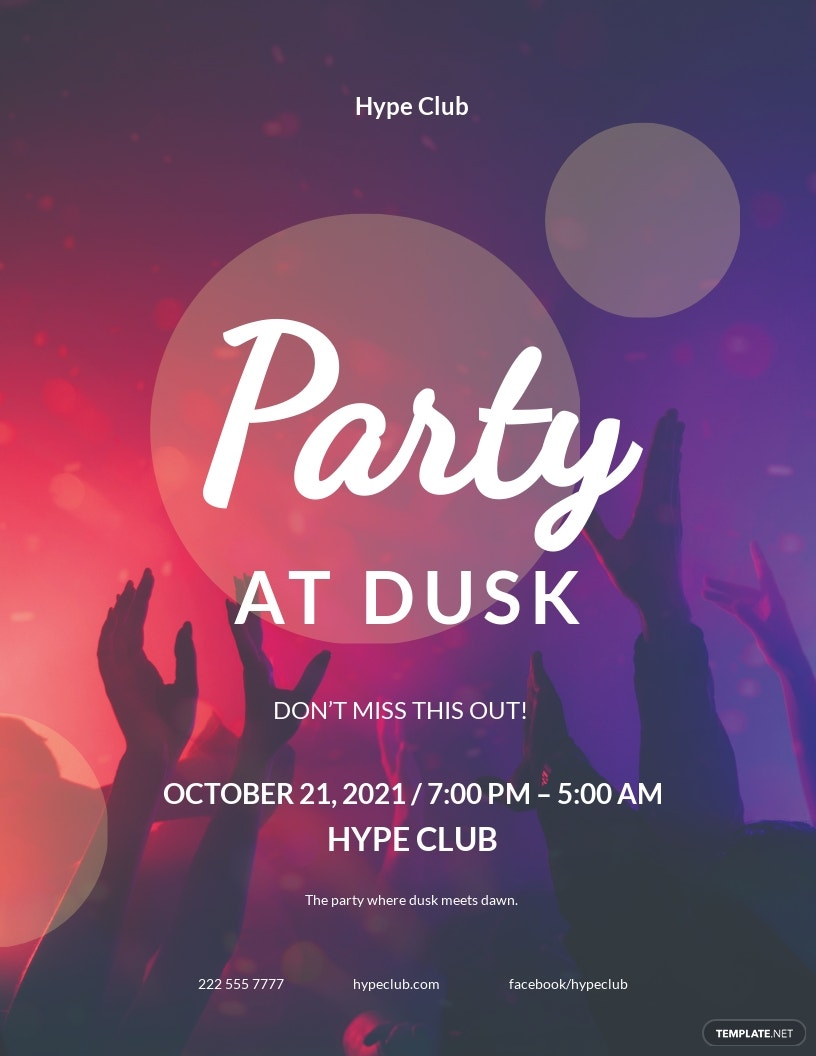 Night Party Event Flyer Template