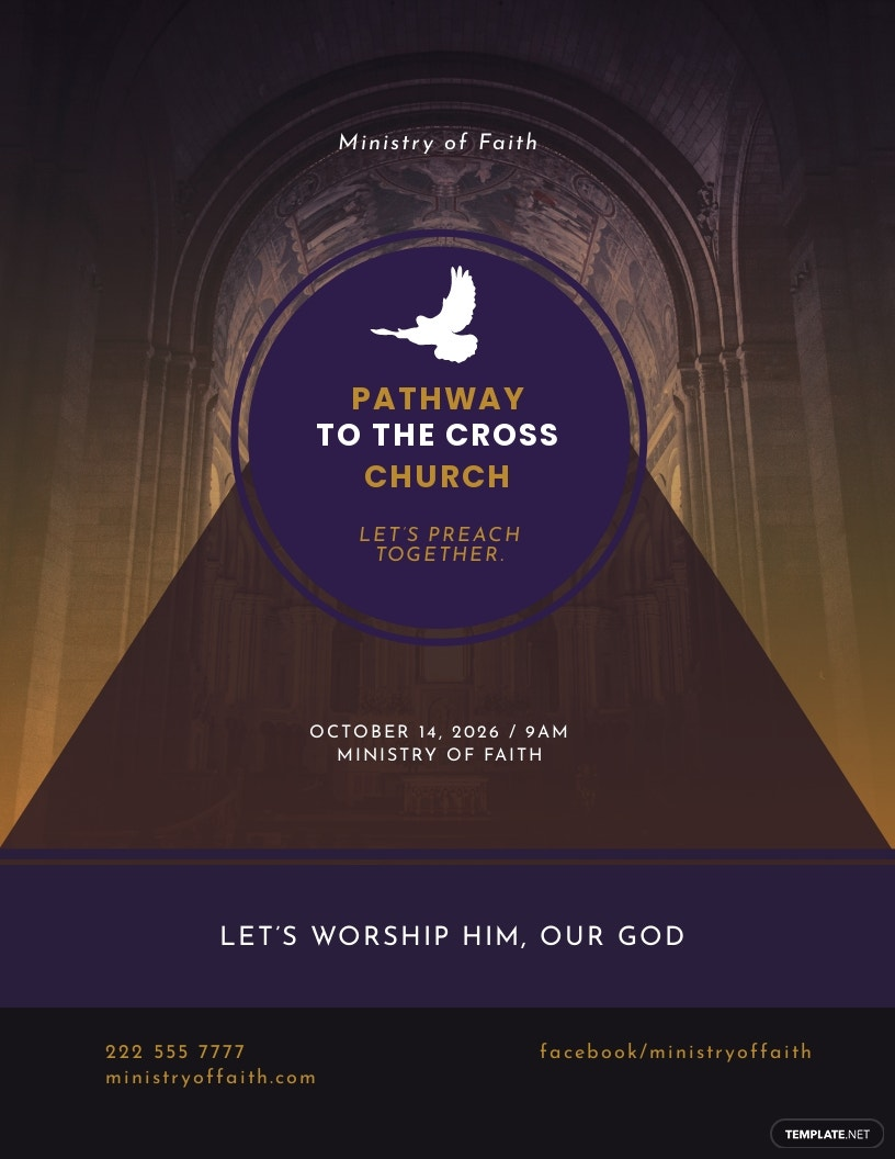 Pathway to the Cross Church Flyer Template
