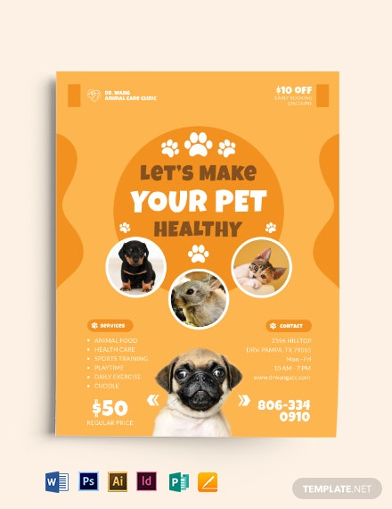 Pet Care Flyer Template