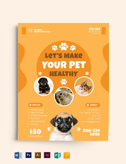 Pet Care Flyer Template
