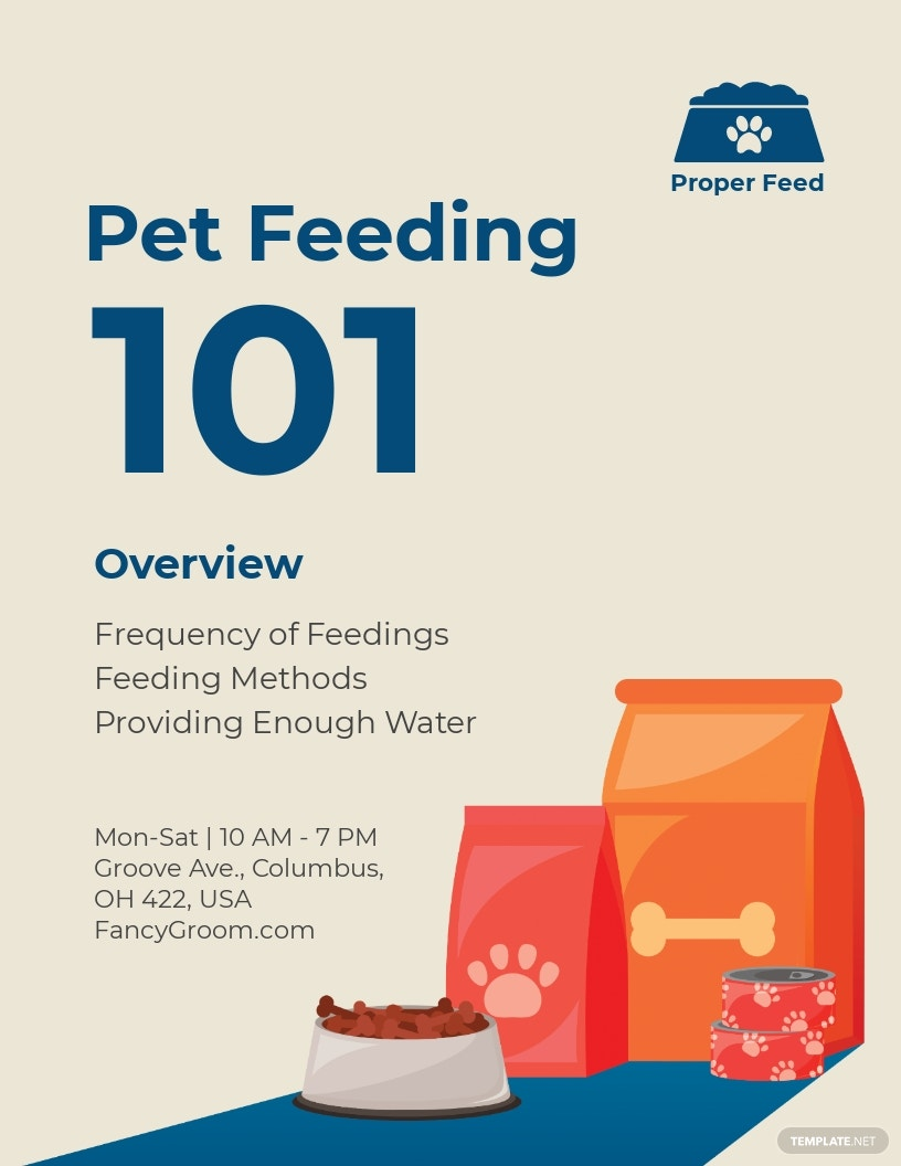 Pet Feeding Flyer Template