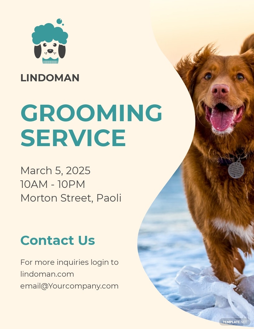 Pet Grooming Flyer Template