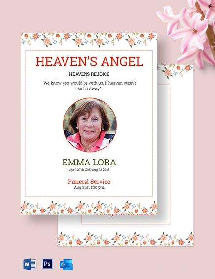 Premium Eulogy Funeral Template