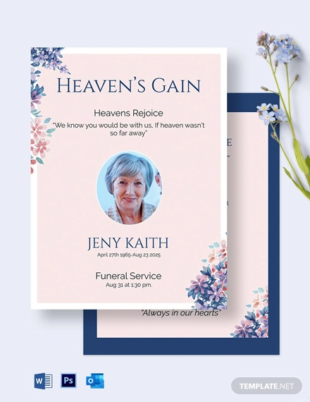 Legacy Eulogy Funeral Invitation Template