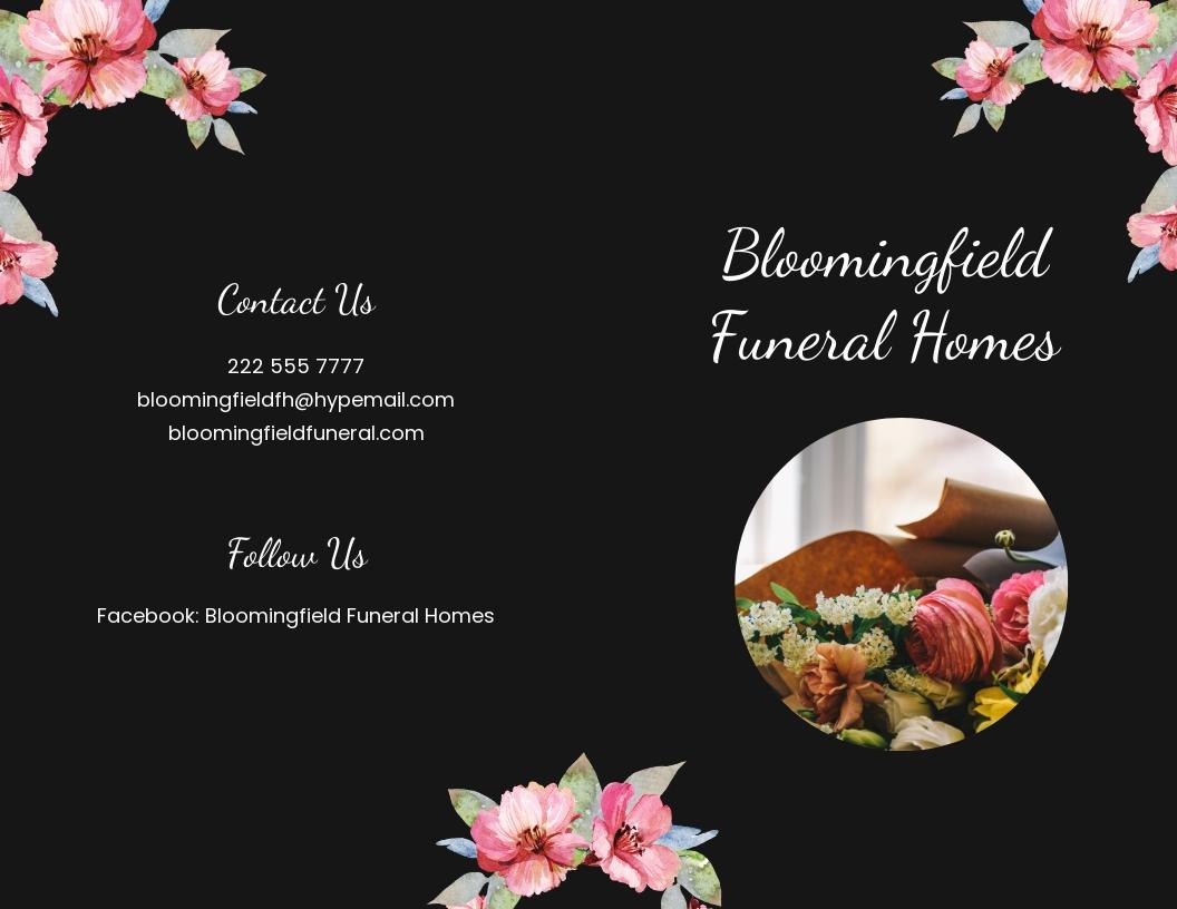 Floral Funeral Bi fold Brochure Template.jpe