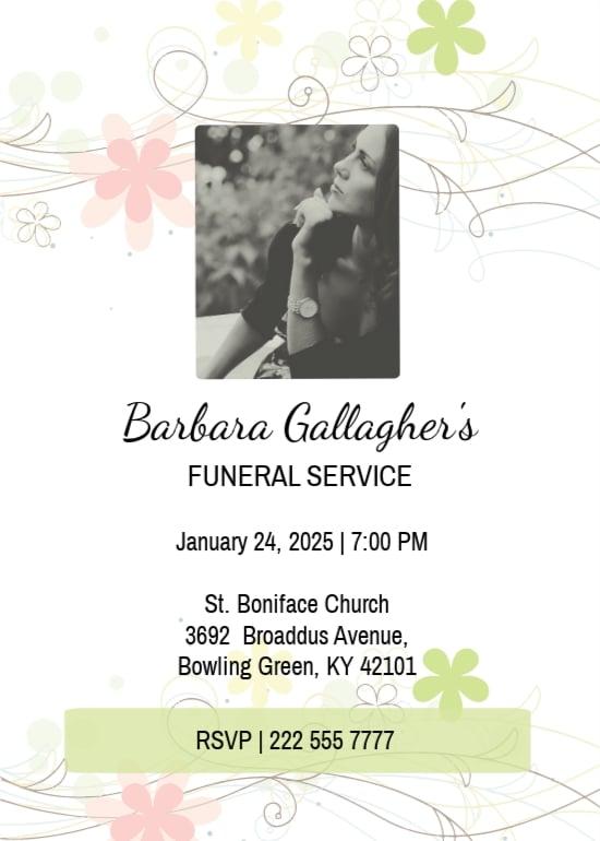 Funeral Program Invitation Card Template.jpe