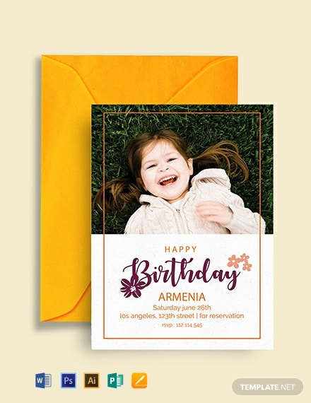 Free Happy Birthday Invitation Template