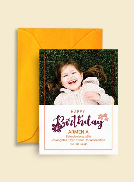 Free Happy Birthday Invitation Template