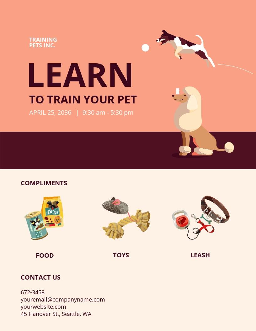 Pet Training Flyer Template