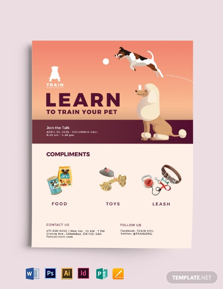 Pet Training Flyer Template