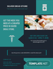 Pharmacy and Medical Supply Flyer Template