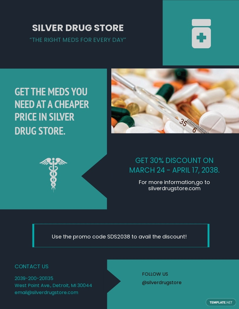 Pharmacy and Medical Supply Flyer Template.jpe