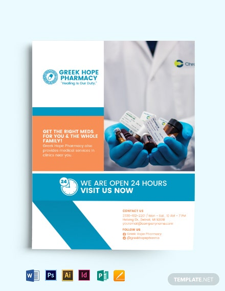Pharmacy Medical Services Flyer Template