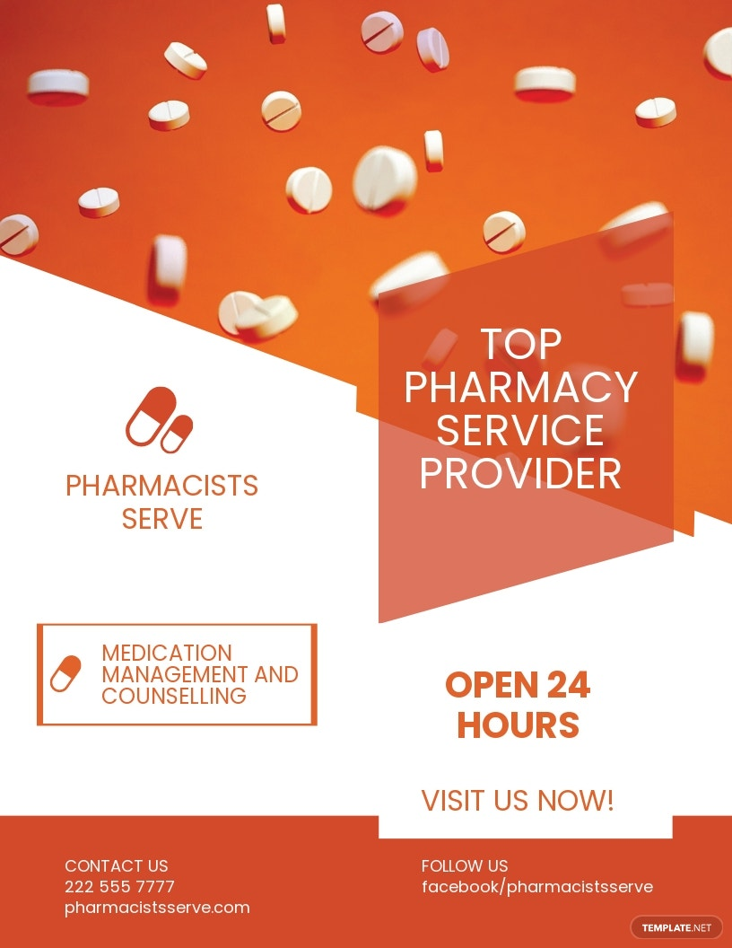Pharmacy Services Flyer Template.jpe