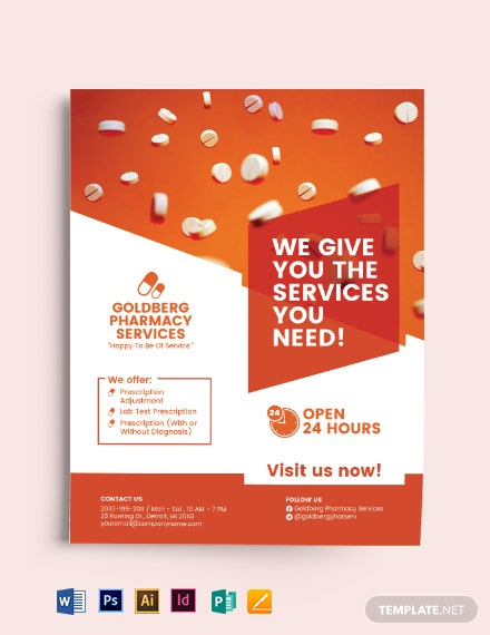 Pharmacy Services Flyer Template