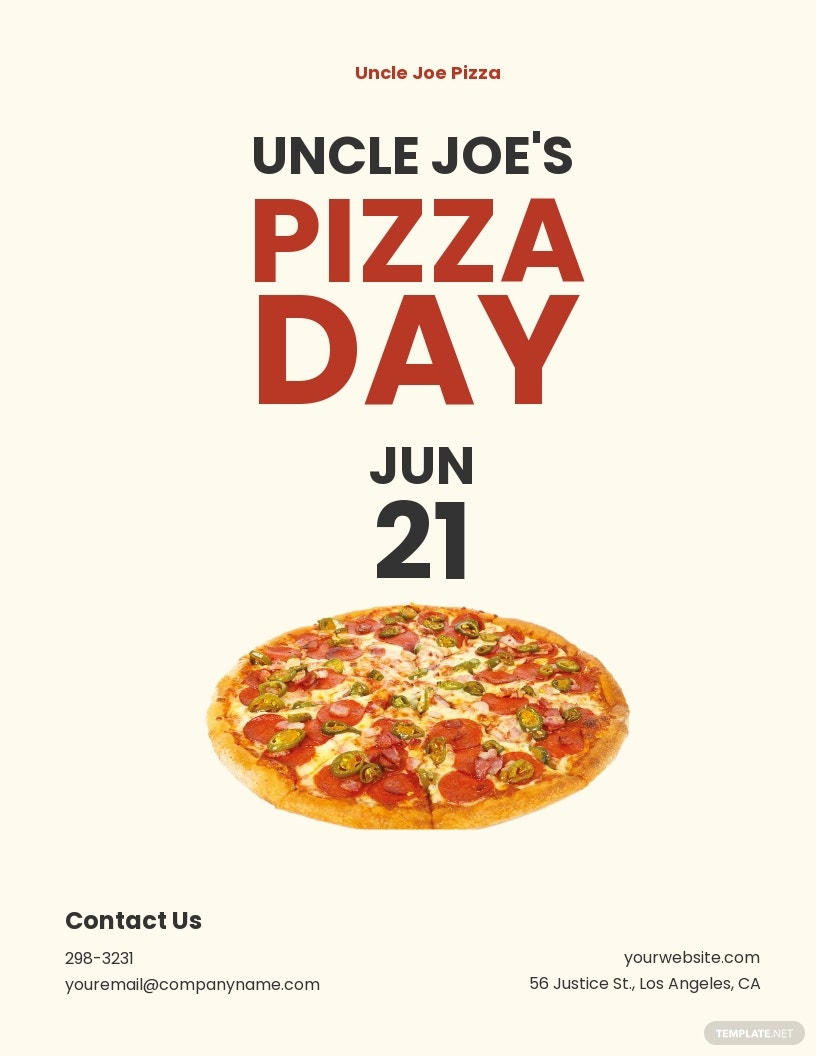 Pizza Day Flyer Template