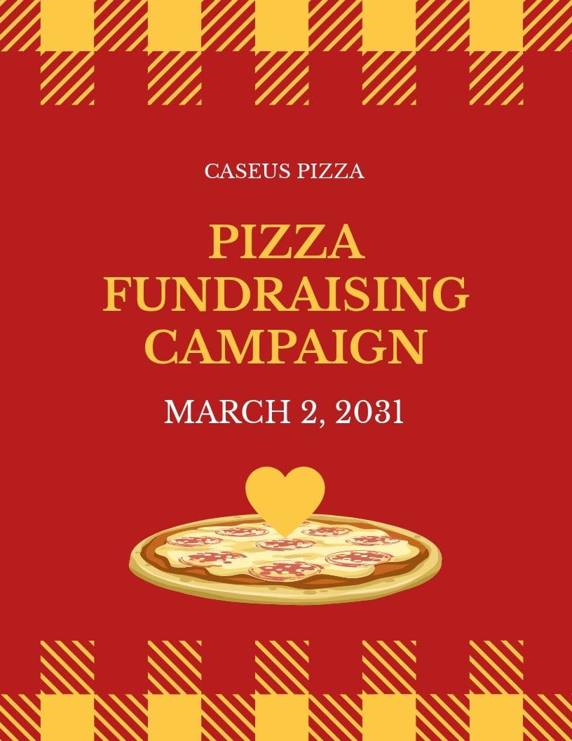 Pizza Fundraiser Flyer Template