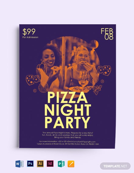 Pizza Night Flyer template