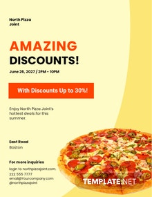 Pizza Promotion Flyer Template