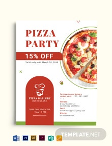Pizza Restaurant Advertising Flyer Template