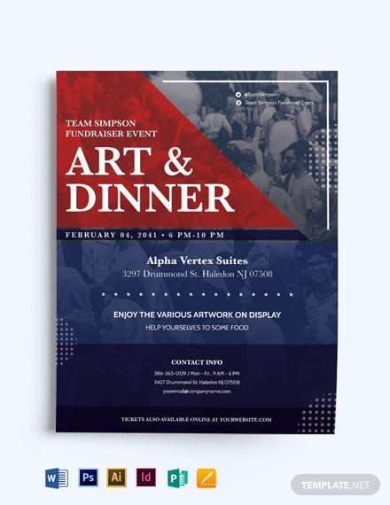 Political Fundraiser Flyer Template