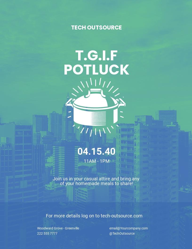 Potluck Event Flyer Template