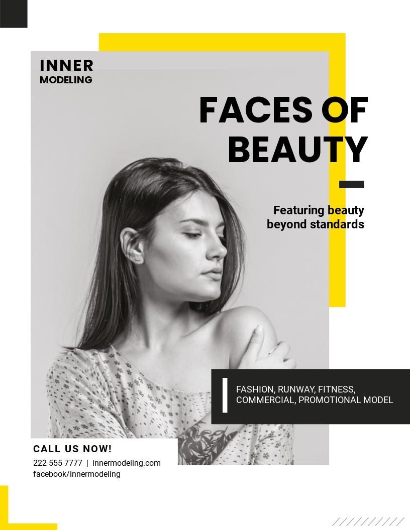 Professional Model Agency Flyer Template.jpe