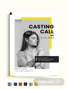Professional Model Agency Flyer Template