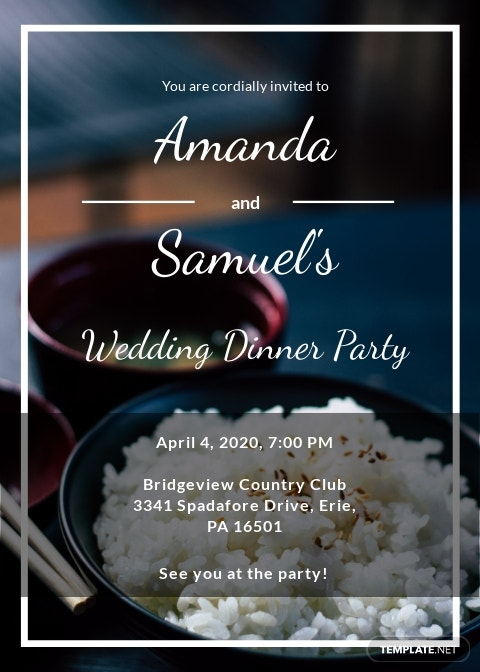 Wedding Dinner Party Invitation Template