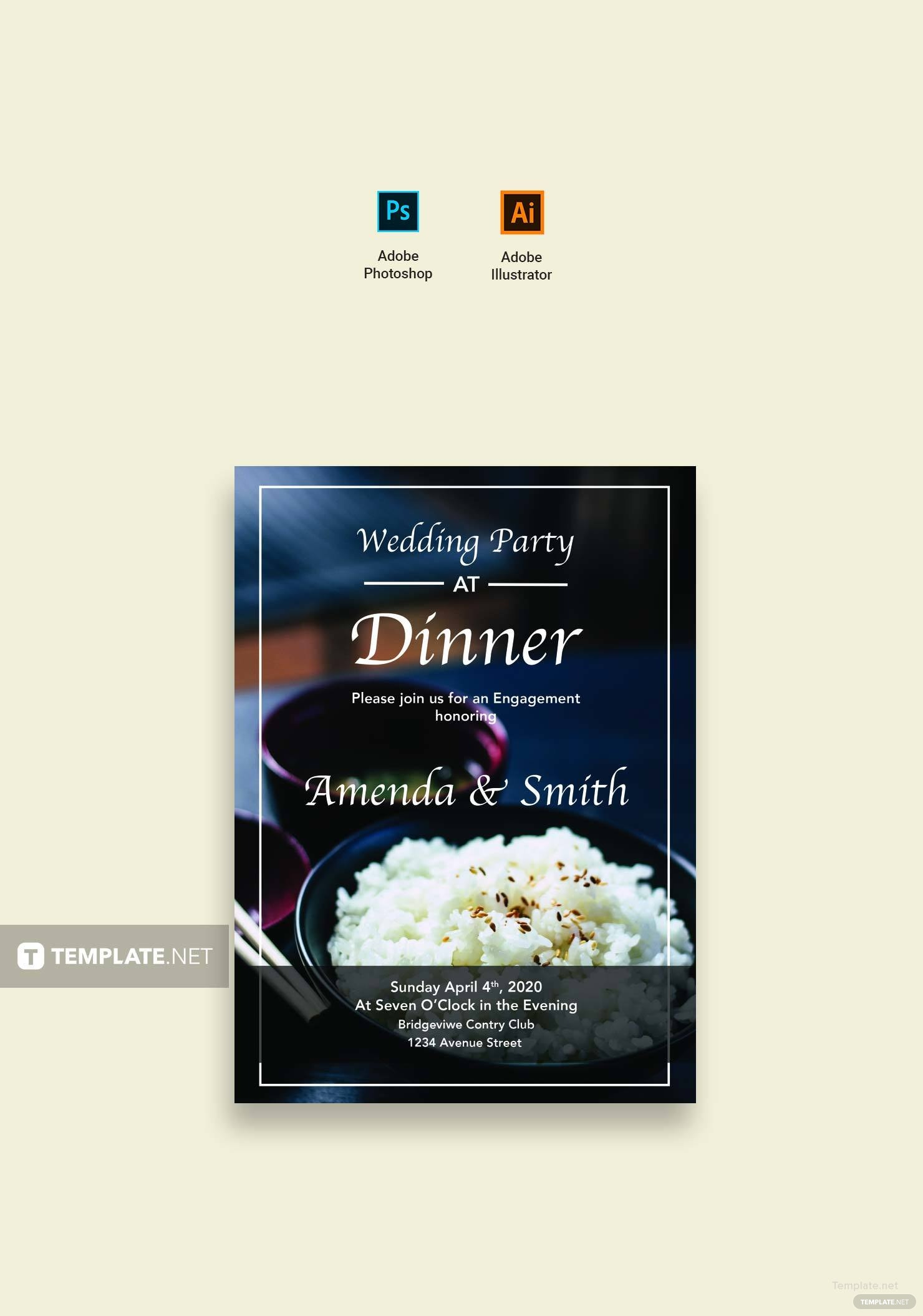 dinner party template