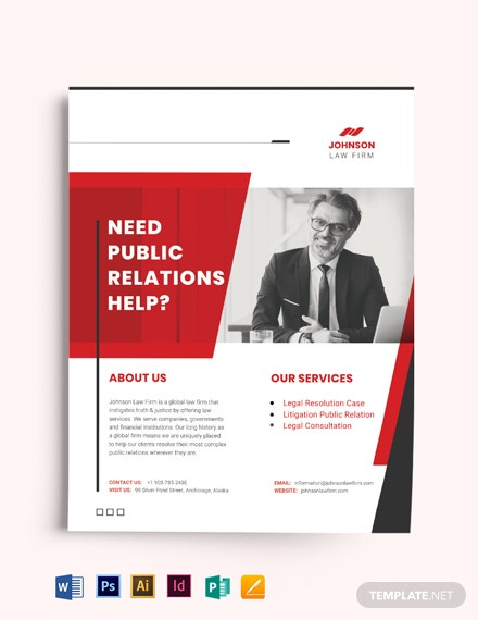 Public Relations Company Flyer Template