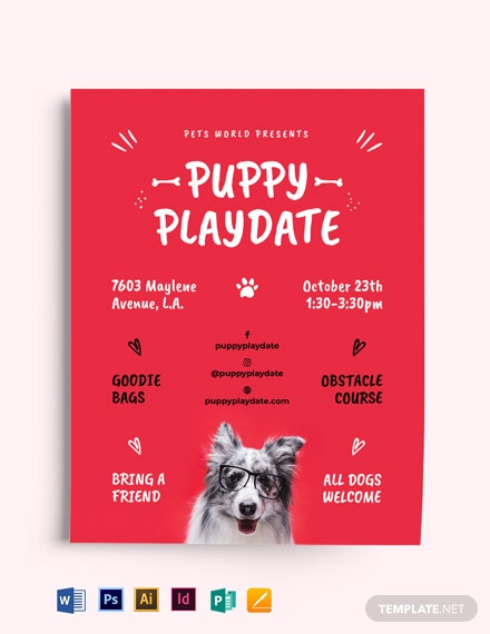 Puppy Playdate Flyer Template