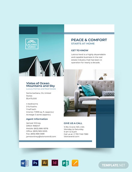 Real Estate New Listing Flyer Template