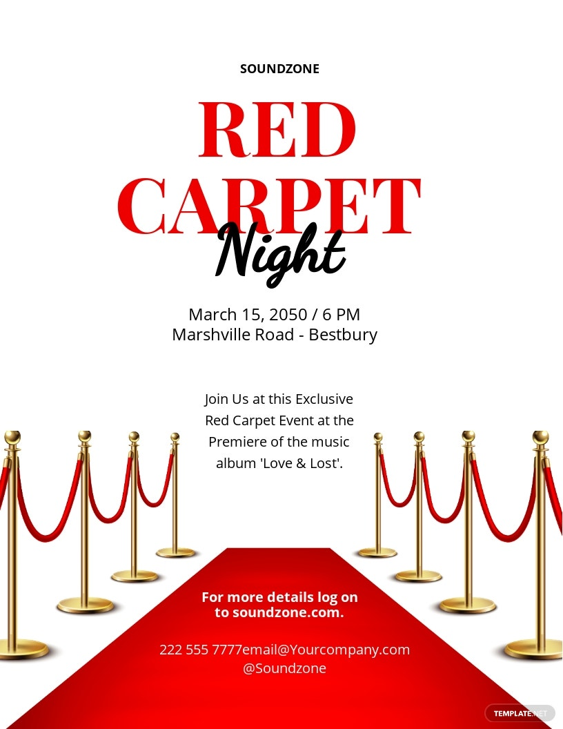 Red Carpet Event Flyer Template.jpe