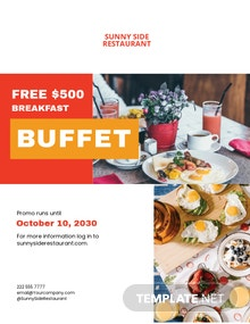 Restaurant food Gift Voucher Flyer Template