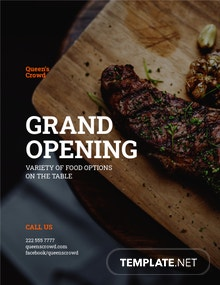Restaurant Promotional Flyer Template