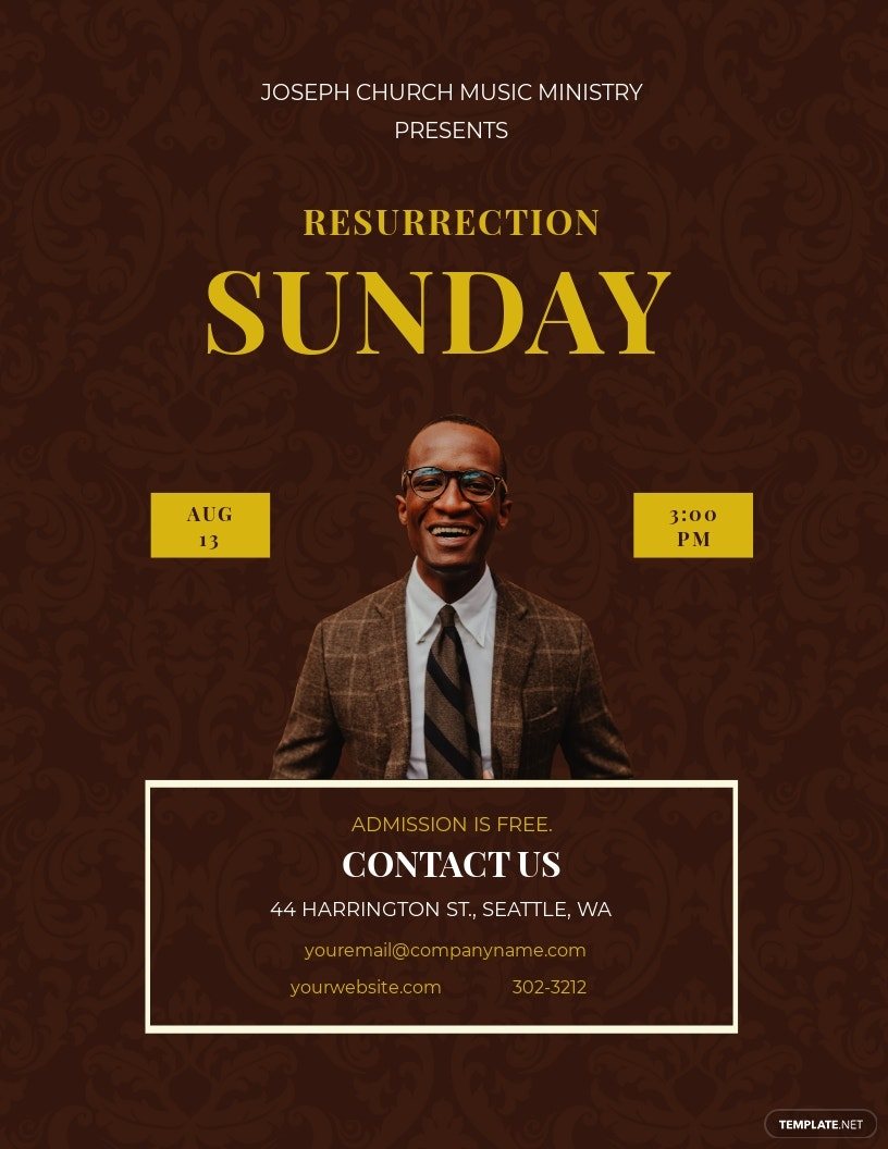 Resurrection Day Concert Flyer Template.jpe