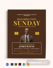 Resurrection Day Concert Flyer Template