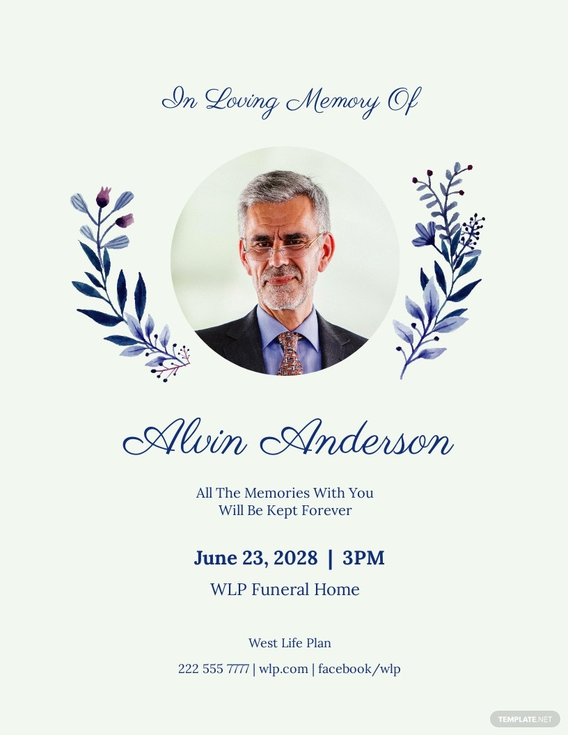 Simple Funeral Flyer Template