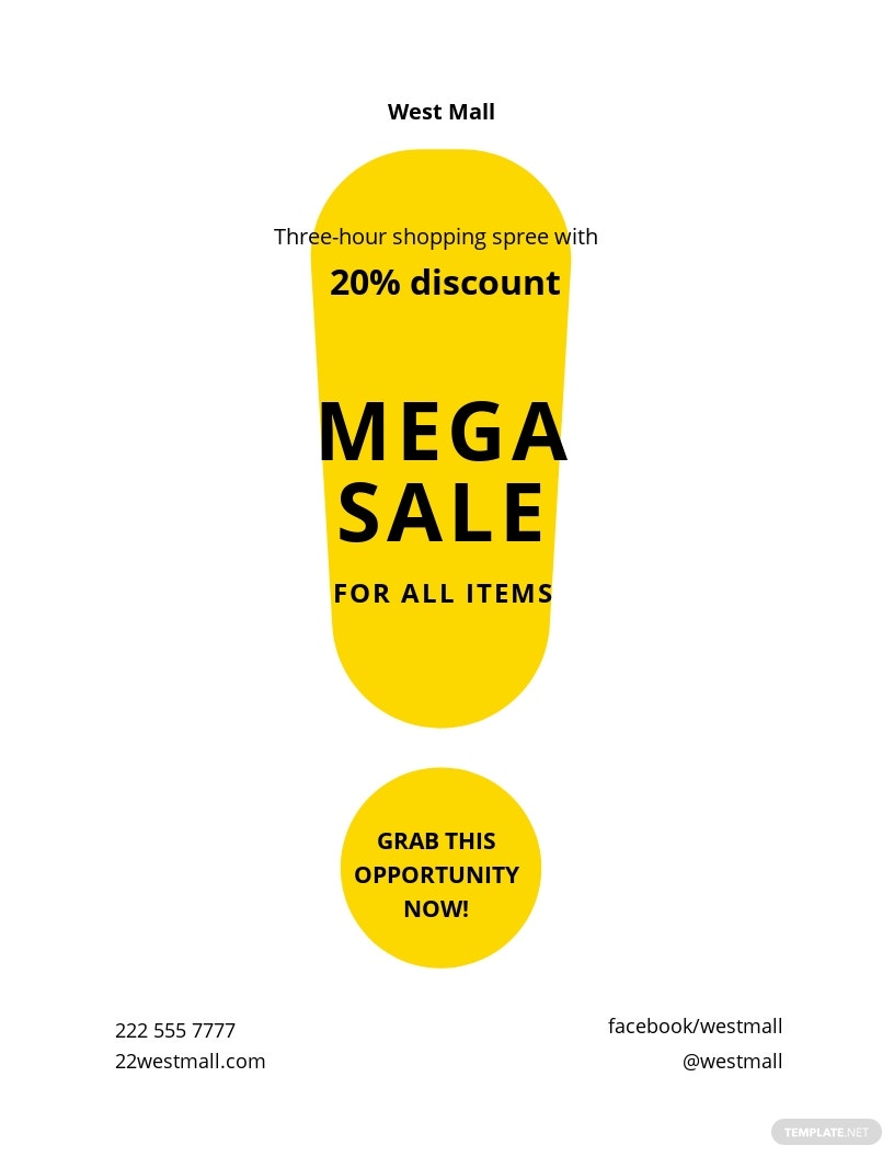 Simple Sale Flyer Template