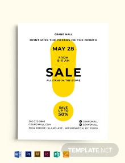 Simple Sale Flyer Template