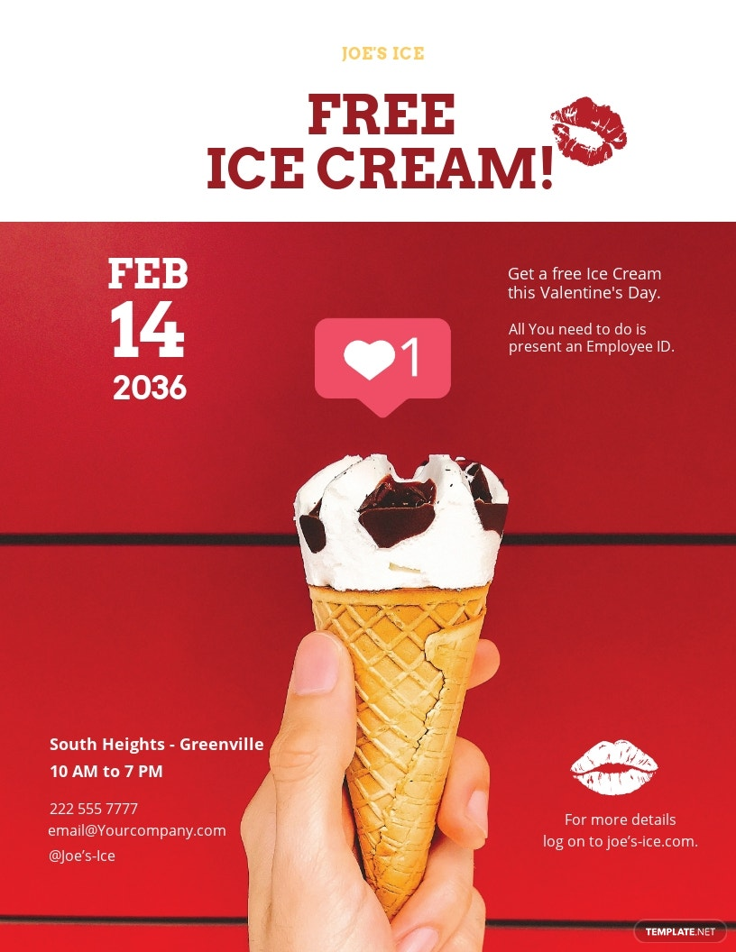 Simple Valentines Day Flyer Template