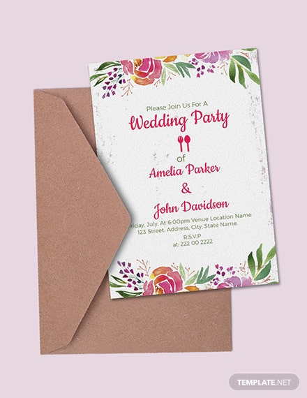 53 Free Wedding Invitation Templates Download Ready Made