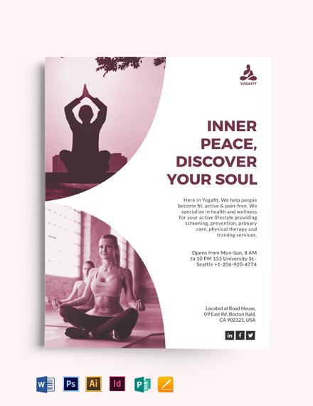 Simple Yoga Meditation Flyer Template
