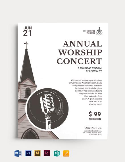 Sing Praise Gospel Concert Flyer Template