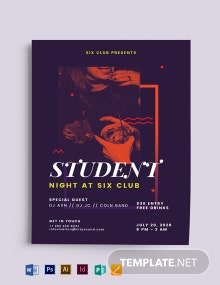 Student Night Flyer Template